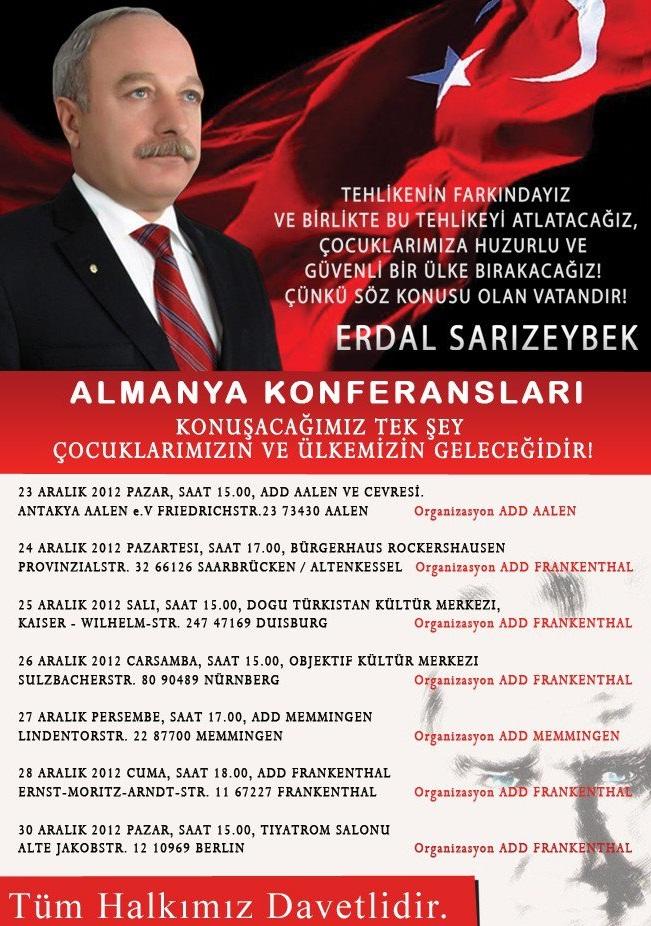 ERDAL  SARIZEYBEK  ALMANYA  KONFERANSLARI